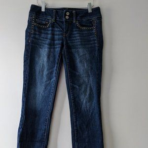 American Eagle Studded Artist Crop Jeans Size 2
